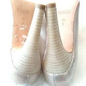 Coach Shoes - Coach crackle heels sz 10B